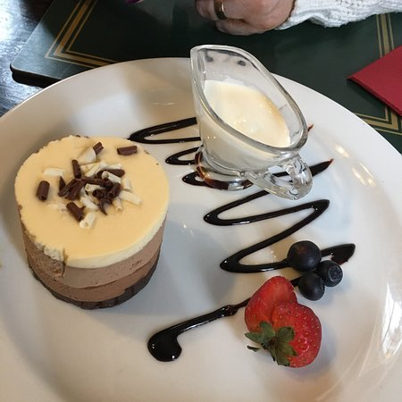 Great Barford, UK: Triple chocolate gf torte at the Anchor