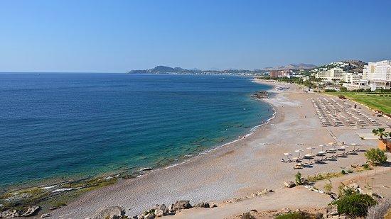Faliraki sandy beach