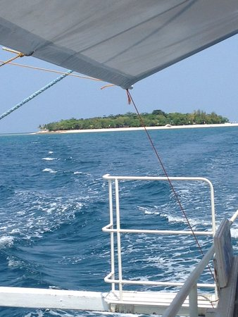 Narra, Philippinen: view from the boat taking us back to Palawan