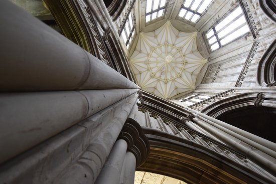 Margam Park: Looking up inside the castle