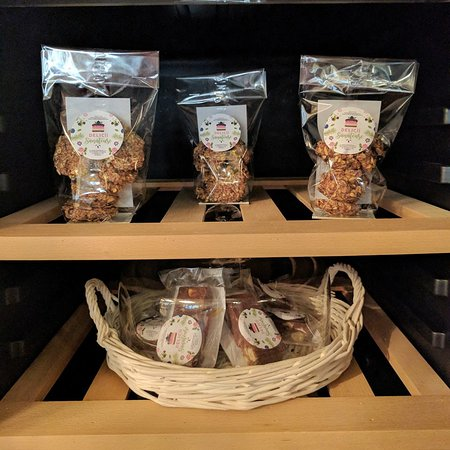 Raw-vegan treats for a healthier snack next to your favorite coffee or tea.