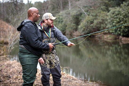 Lake Toxaway, Северная Каролина: Flyfishing