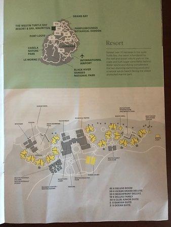 The Westin Turtle Bay Resort & Spa, Mauritius: Resort map