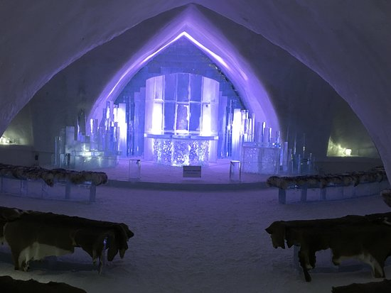 Hotel de Glace: The Ice Hotel chapel.