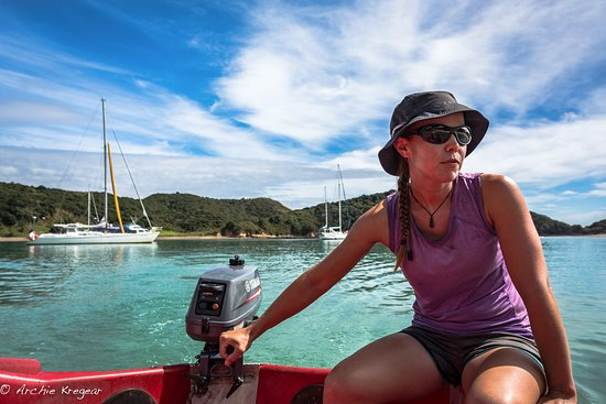 Kerikeri, New Zealand: Melissa, the first mate! Gungha II is on the left.