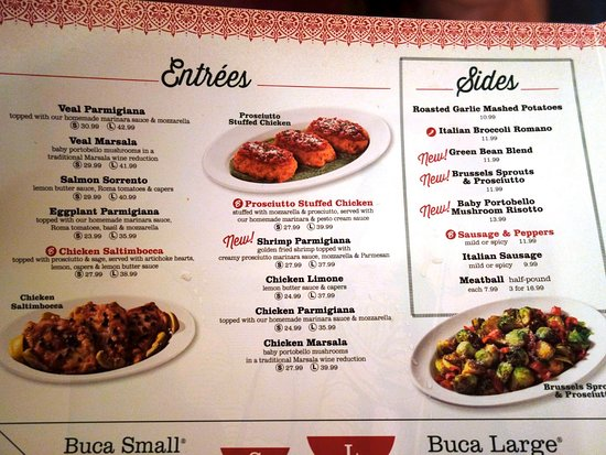 Menu Foto Buca Di Beppo Italian Restaurant Pasadena Tripadvisor