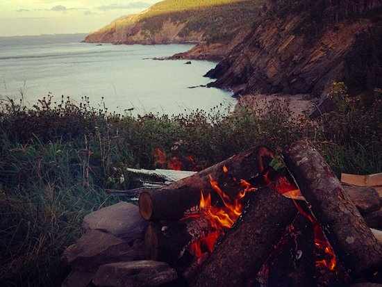 Evening Fire at the Meat Cove Campground Cape Breton