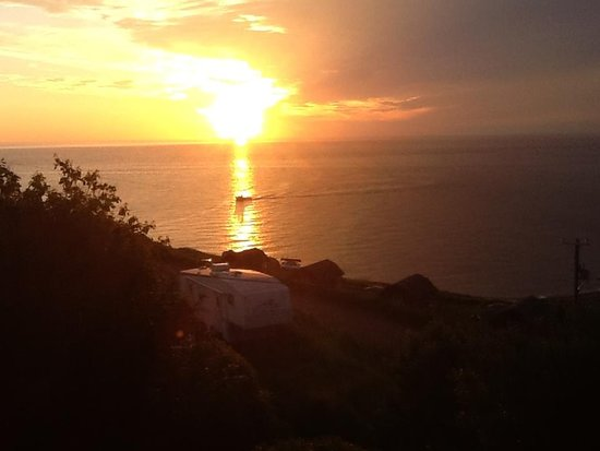 Beautiful Evening Sunset Meat Cove Campground in Cape Breton