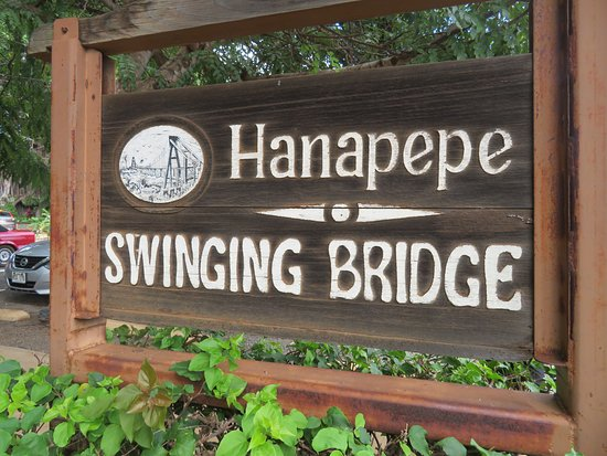 Swinging Bridge: Hanapepe