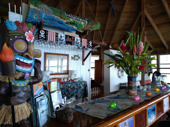 Mango Creek Lodge: A view of the Mango Creek dining room bar area -- decorated for Easter