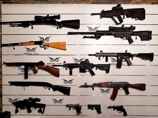 Portal Shooting Range: מגוון של נשקים
