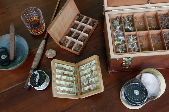 Livingston Manor, نيويورك: Fly fishing gear ready to go