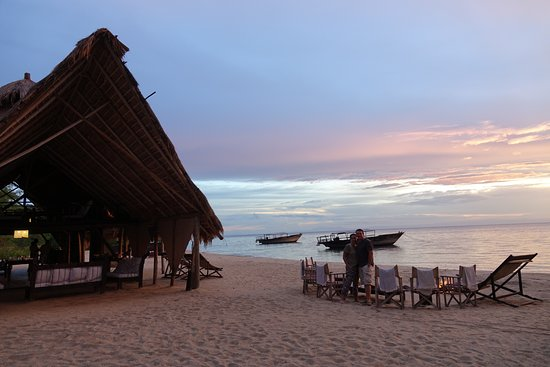 Mahale Mountains National Park, Tanzania: Evening by the main dining area with fire pit