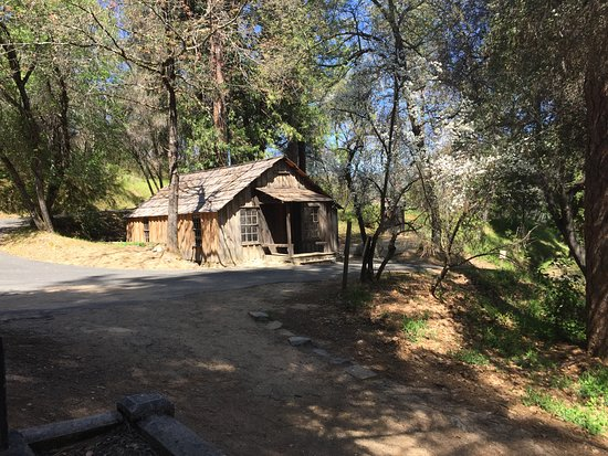 Marshall Gold Discovery State Historic Park: John Marshall's Cabin - he is the discoverer of gold at Sutter's Mill.