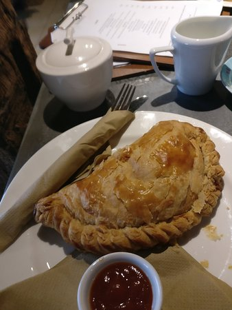 Lambourn, UK: Yes, this was the pasty. The left hand corner was the first to be eaten...