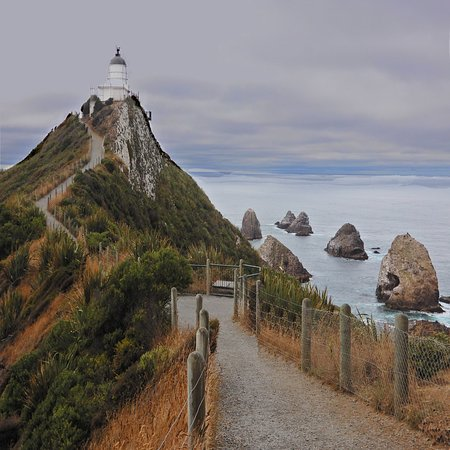 Nugget Point Lighthouse: Nugget Point on an overcast morning.