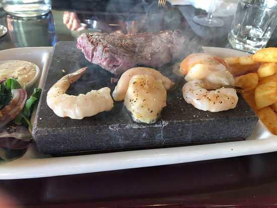 "Waiuku, New Zealand: ""Cook your own"" surf & turf"