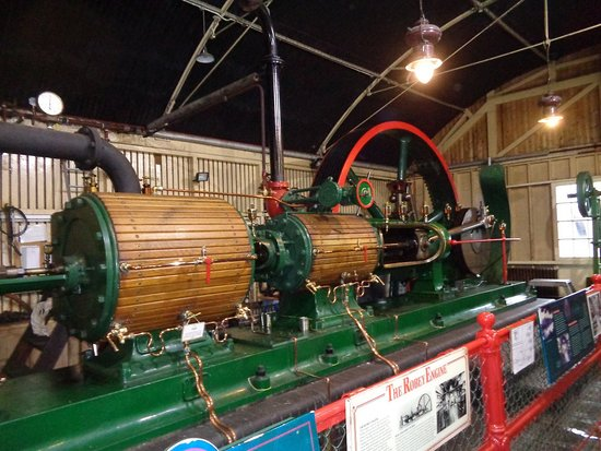 The National Brewery Centre: The Robey steam engine sometimes operates at weekends