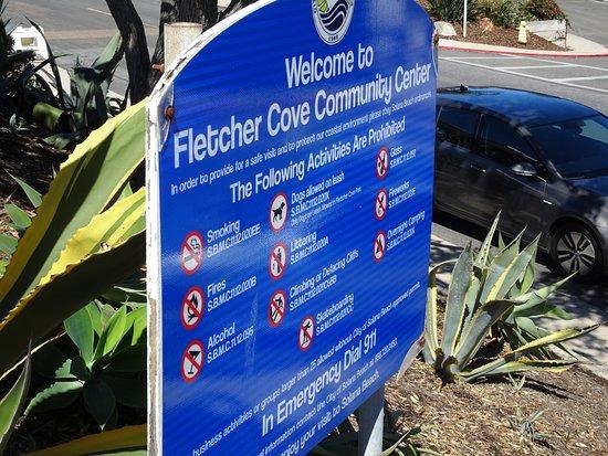 Solana Beach, CA: Signage marks the way