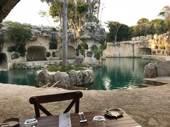 Hotel Xcaret Mexico The View From Cave Restaurant
