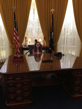 Yorba Linda, CA: in the oval office
