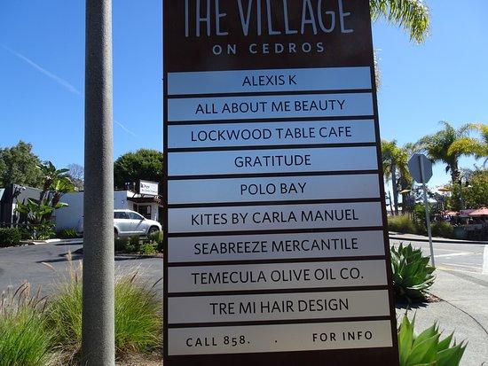 Solana Beach, CA: Villages on Cedros list of businesses