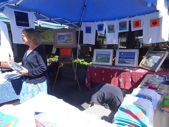 Solana Beach, CA: Artist's booth with imaginative designs