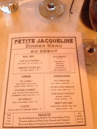 list of menu for dinner