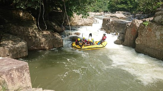 White Water rafting Slim River Perak.