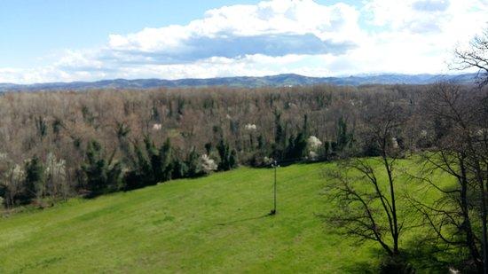 vista dal castello di montechiarugolo