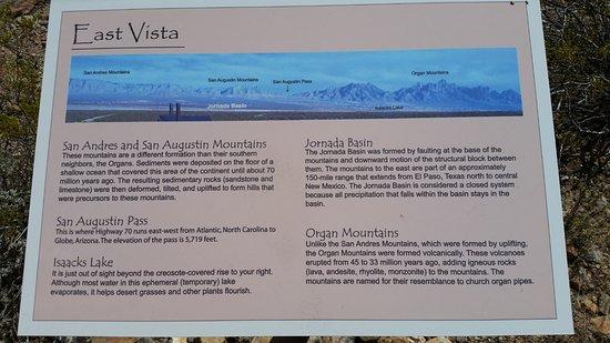 Chihuahuan Desert Nature Park: East Vista sign