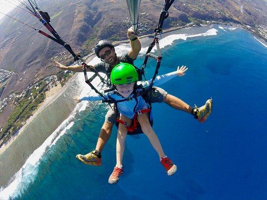 Saint-Leu, Reunion Island: les enfants volent aussi à partir de 4 ans!