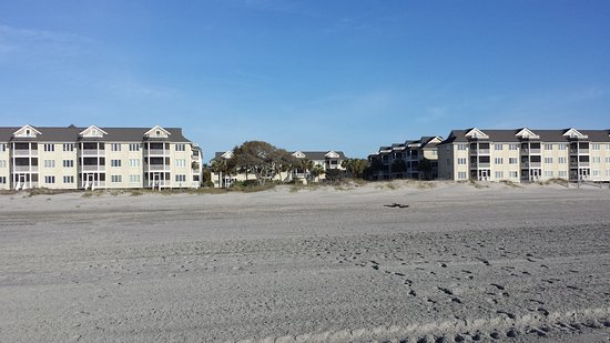 Port O' Call: Looking back from beach toward condos