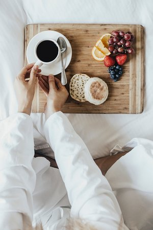 Auberge du Vieux-Port: Breakfast in bed