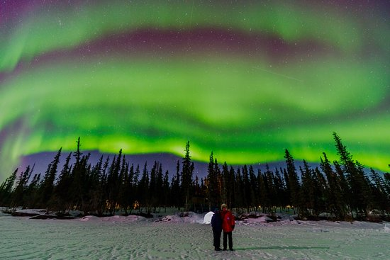 Blachford Lake Lodge: Aurora in all its glory