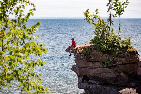 Apostle Islands, WI: Big Bay State Park, hike the Bay View Trail and see the sea caves!