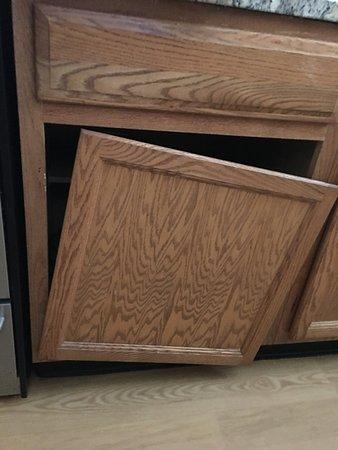 Broken Kitchen Cabinet door. - Picture of TownePlace Suites ...
