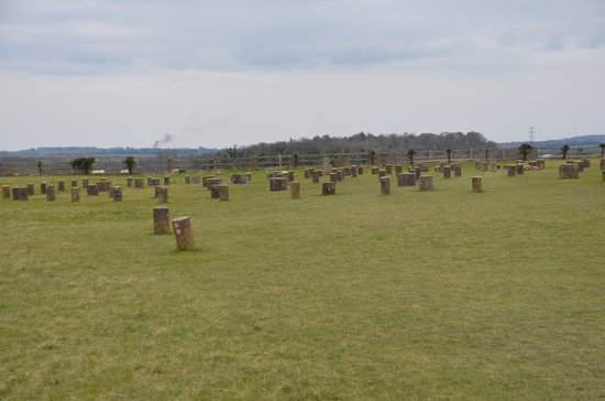 Durrington, UK: General view of Woodhenge