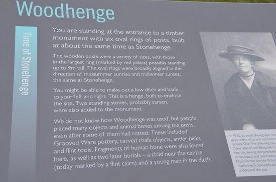 Durrington, UK: Description of Woodhenge at the sight