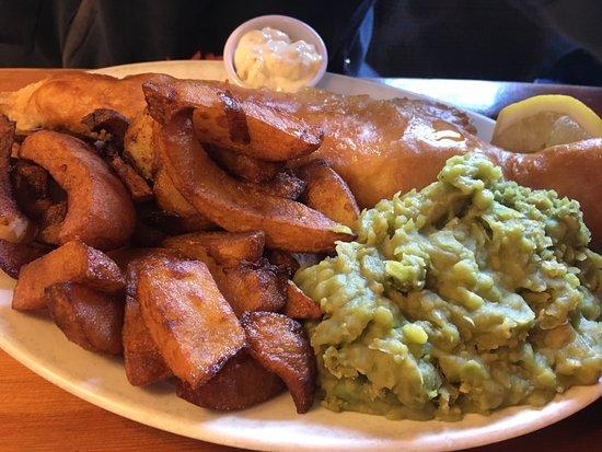 Hurdlow, UK: fish and chips