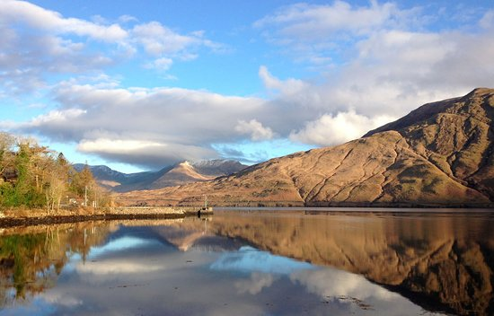 Leenane Hotel: a morning view from outside the hotel