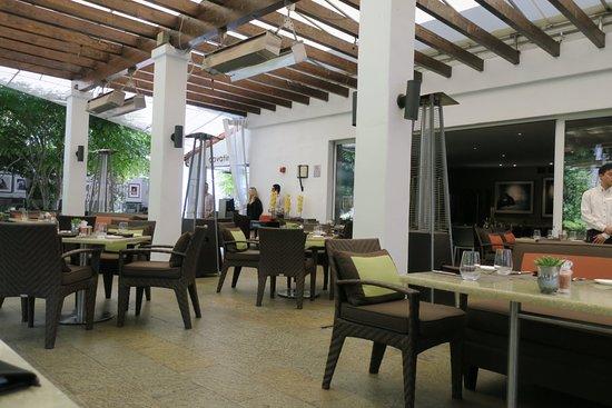 Cavatina restaurant patio - also has inside dining