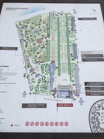 Jardin des Plantes : mapa