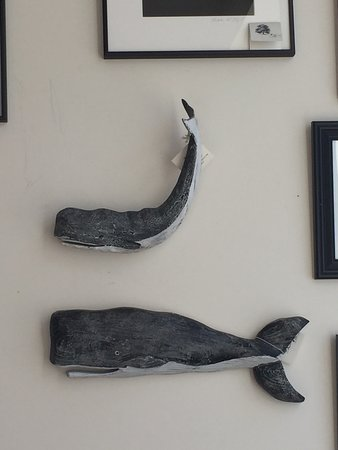 Eastport, ME: Hand carved wall art.