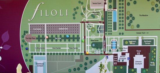 וודסייד, קליפורניה: Map of the gardens