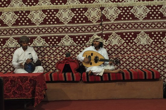 Wadi Rum Nomads - Day Tours: Comunal tent: some music during supper