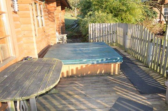 Aymestrey, UK: hot tub