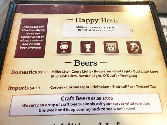 Glen Burnie, Μέριλαντ: Menu: Beers