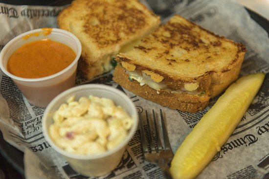 Spring Lake, MI: Grilled Cheese and Side of Pasta Salad