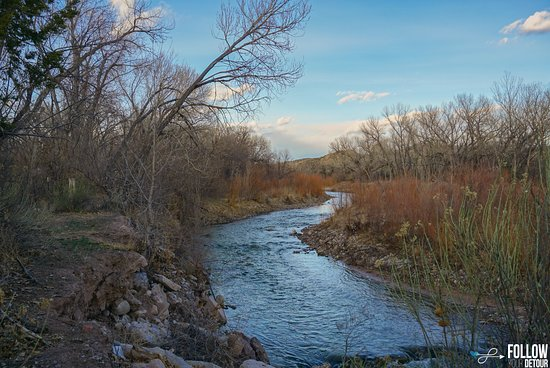 Ojo Caliente, New Mexiko: The river by the campground